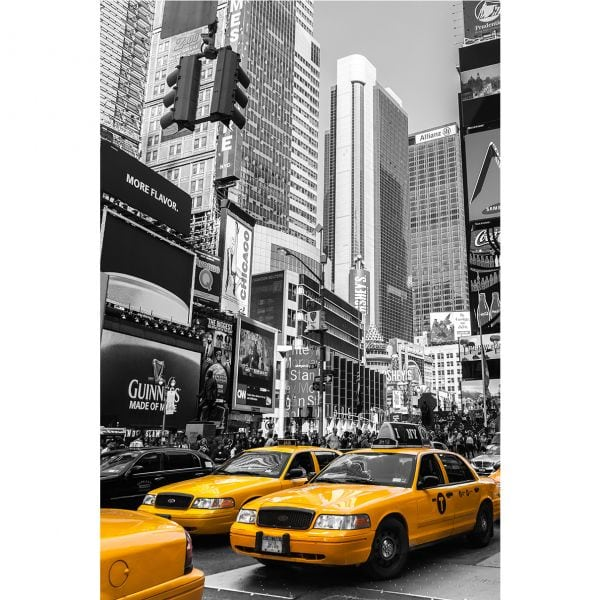 Fototapet Yellow Cab New York