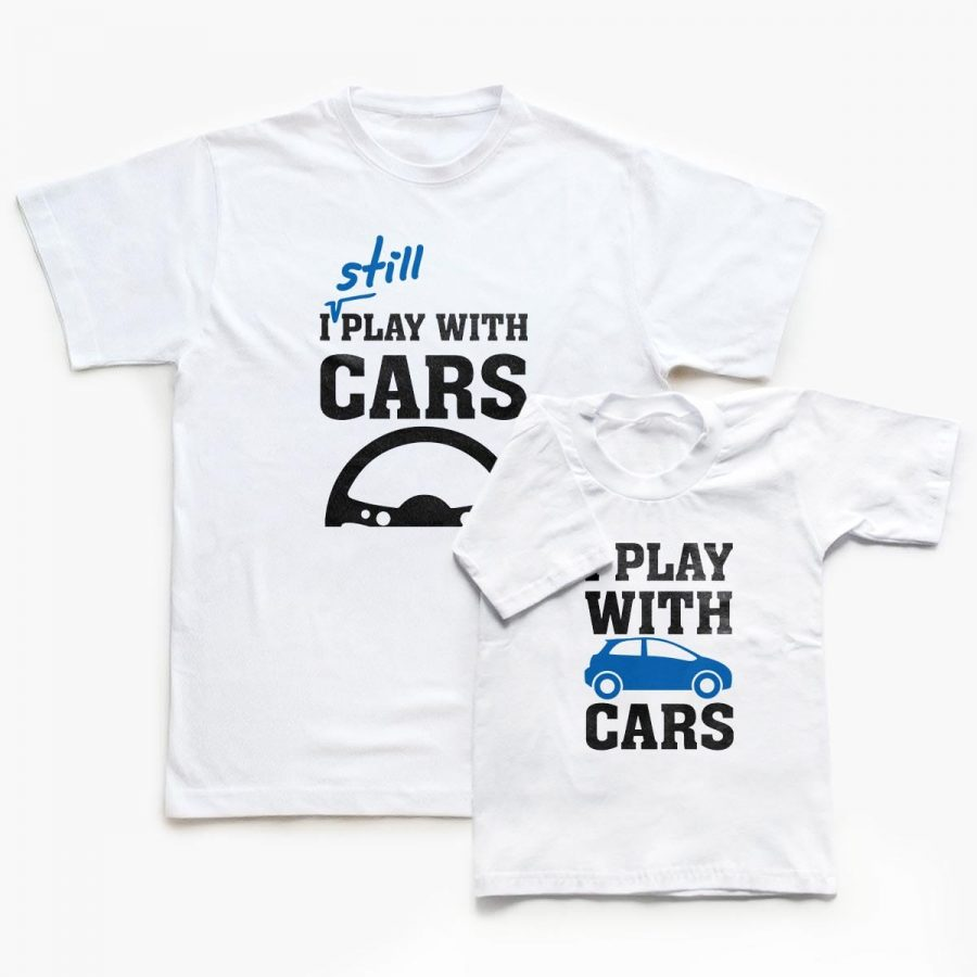 Tricouri familie Play with Cars 1