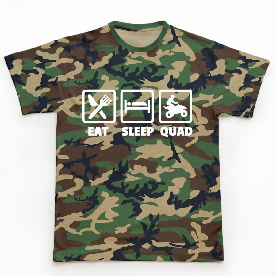 Tricouri ATV Eat, Sleep, Quad camuflaj