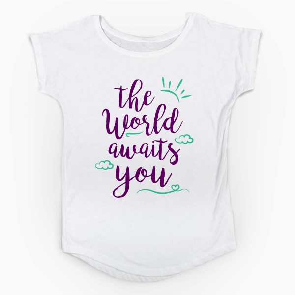 Tricou gravide The World Awaits You 3