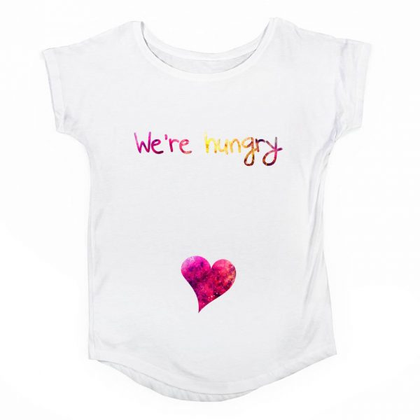 Tricou gravide We're hungry -1 tiparo.ro