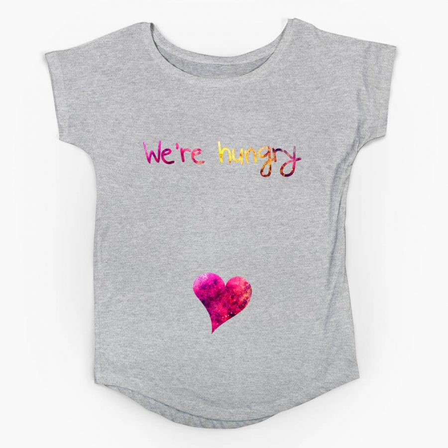 Tricou gravide We're hungry -2 tiparo.ro