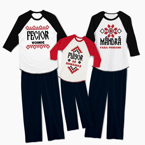 Pijamale personalizate familie Traditional 1