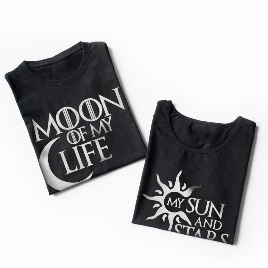 Tricouri cupluri Sun and Moon 3