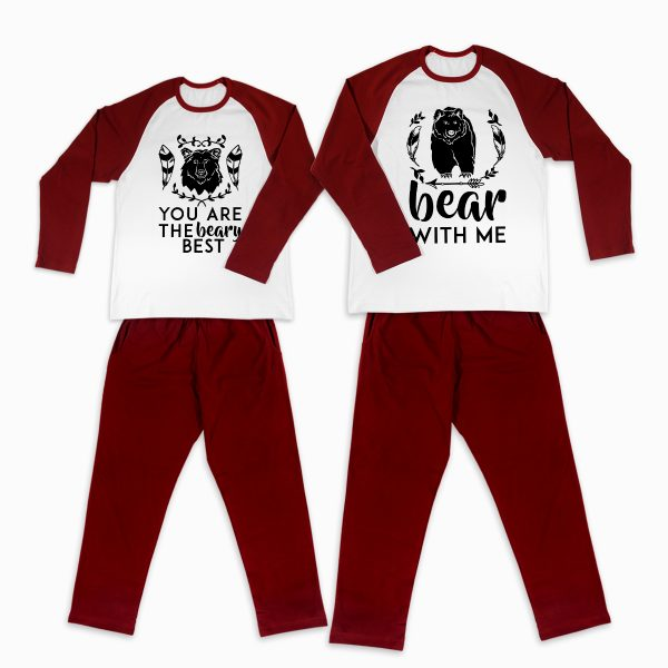 Pijamale Personalizate Cupluri Bear Couple