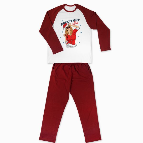 Pijamale Personalizate Cupluri Christmas Rock