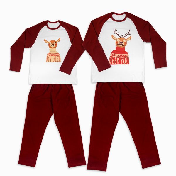 Pijamale Personalizate Cupluri Deer Couple