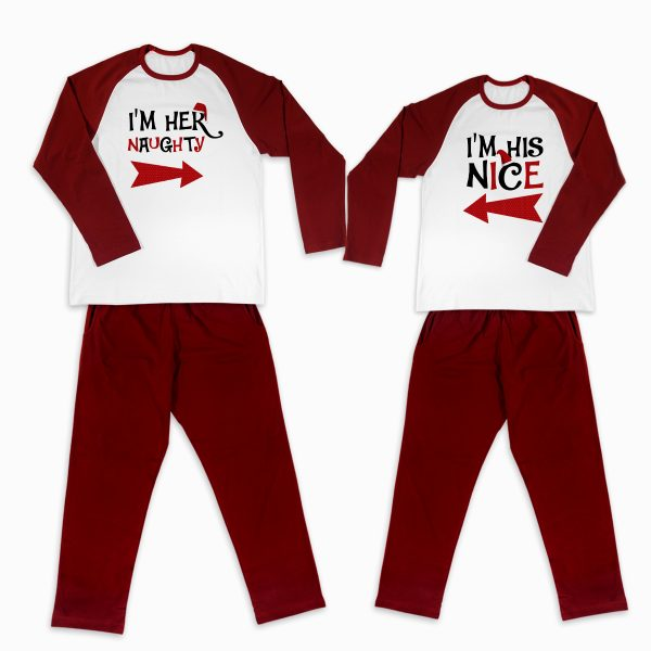 Pijamale Personalizate Cupluri Naughty and Nice