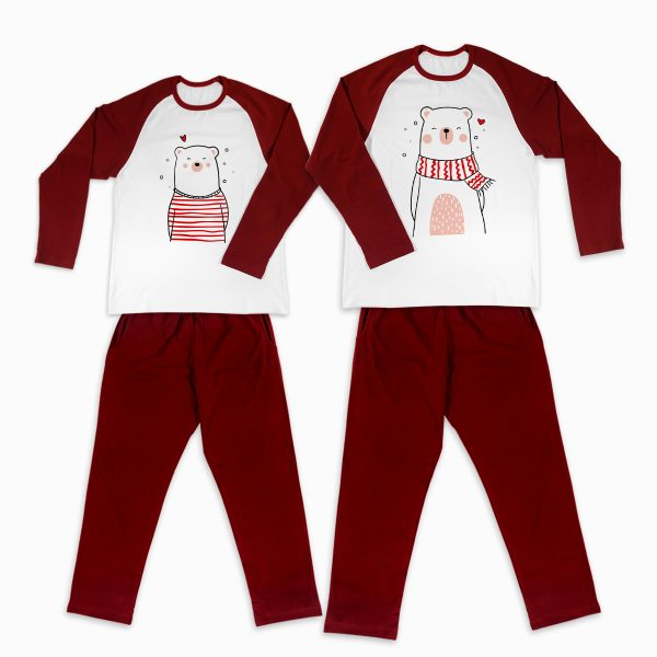 Pijamale Personalizate Cupluri Polar Bear Love