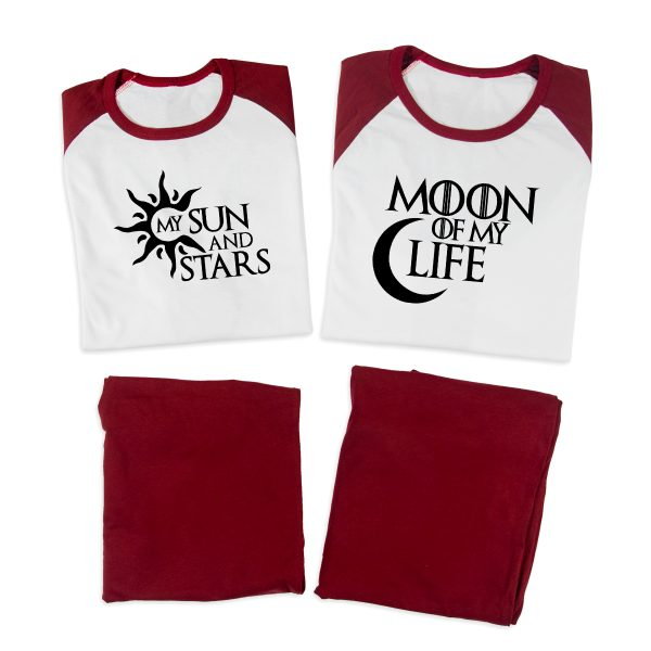 Pijamale Personalizate Cupluri Sun and Moon