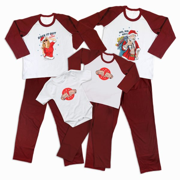 Pijamale Personalizate Familie Christmas Rock