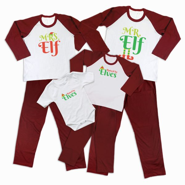 Pijamale Personalizate Familie Elf Family