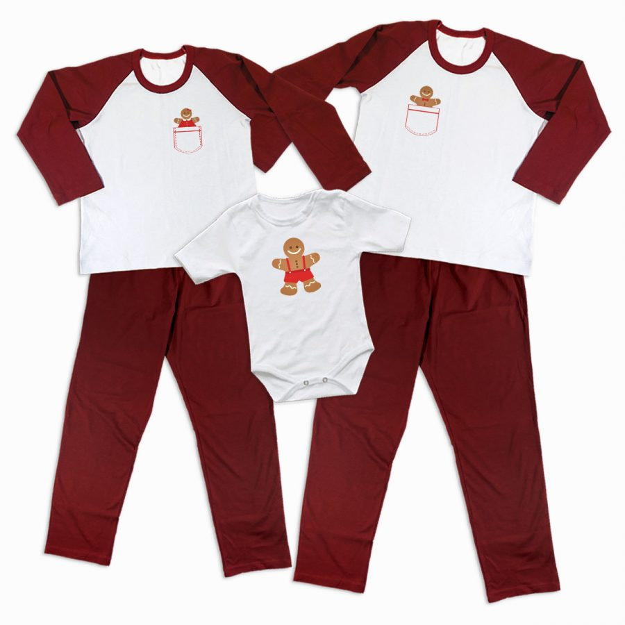 Pijamale Personalizate Familie Gingerbread Family