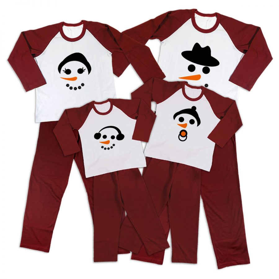 Pijamale Personalizate Familie Happy Snowman