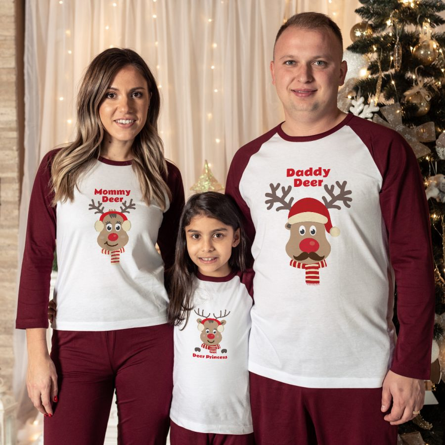 Pijamale Personalizate Familie Red Nose Family