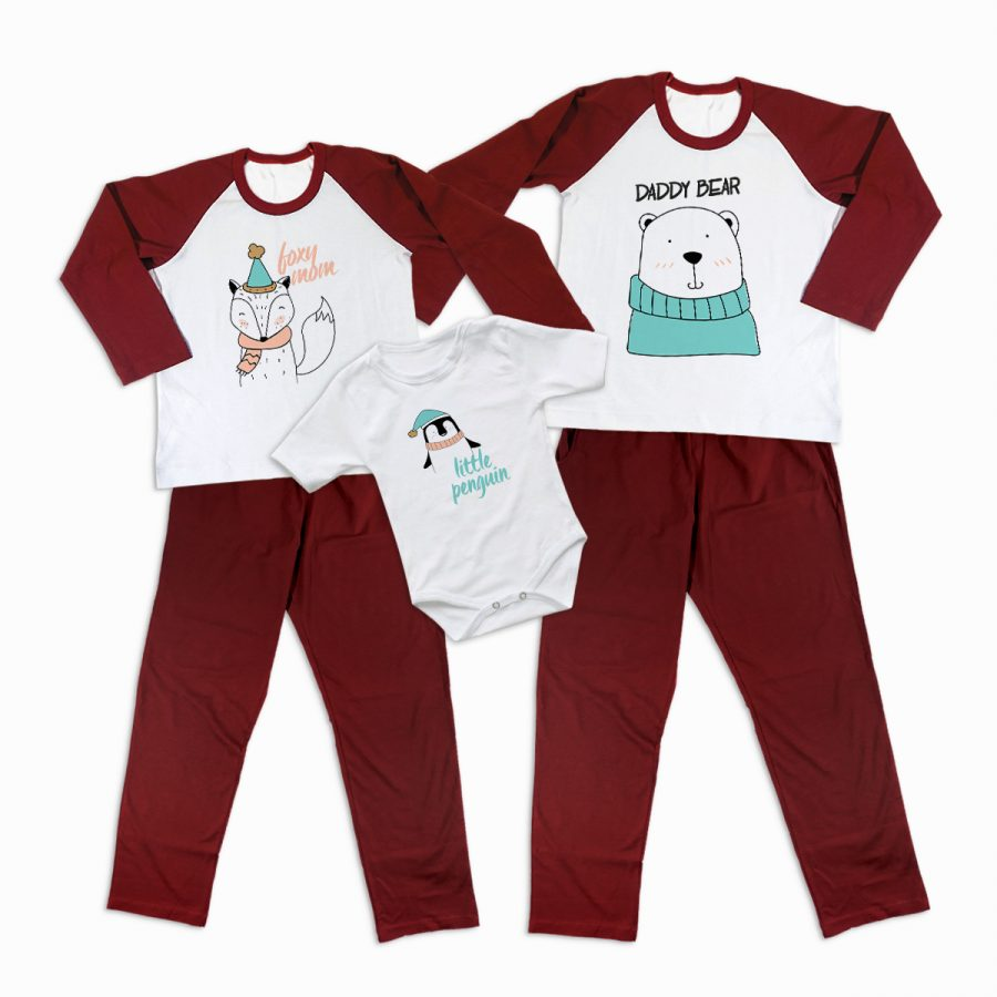 Pijamale Personalizate Familie Winter Sketch