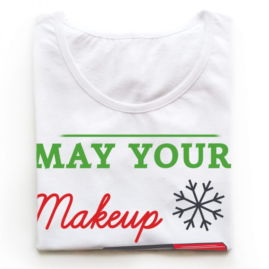 Tricouri make-up artisti Be Merry and Bright