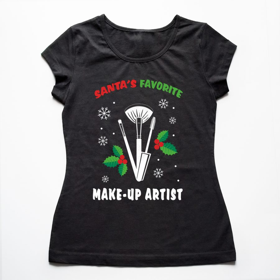 Tricouri make-up artisti Santa's favorite
