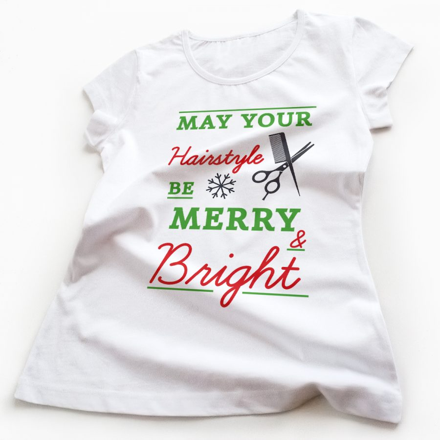 Tricouri hairstylist Be Merry and Bright
