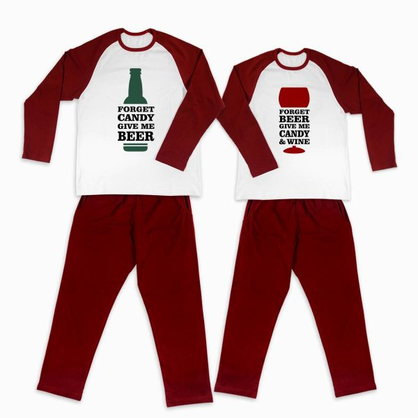 Pijamale personalizate cupluri Beer, Candy & Wine 1