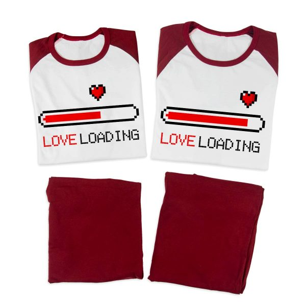 Pijamale personalizate cupluri Love Loading 2