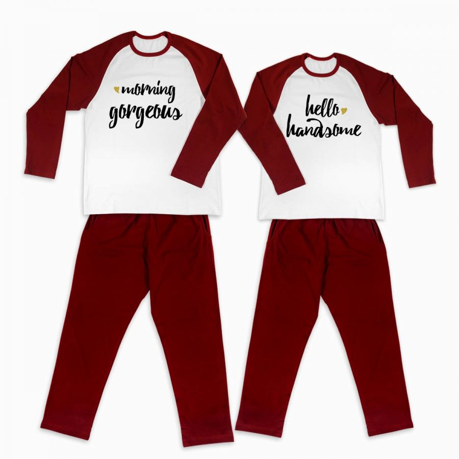 Pijamale personalizate cupluri Morning Love 2