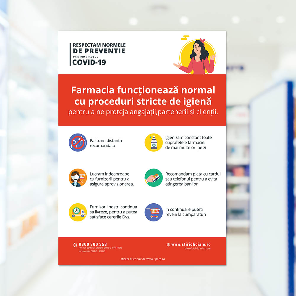 Stickere preventie FARMACIE 3