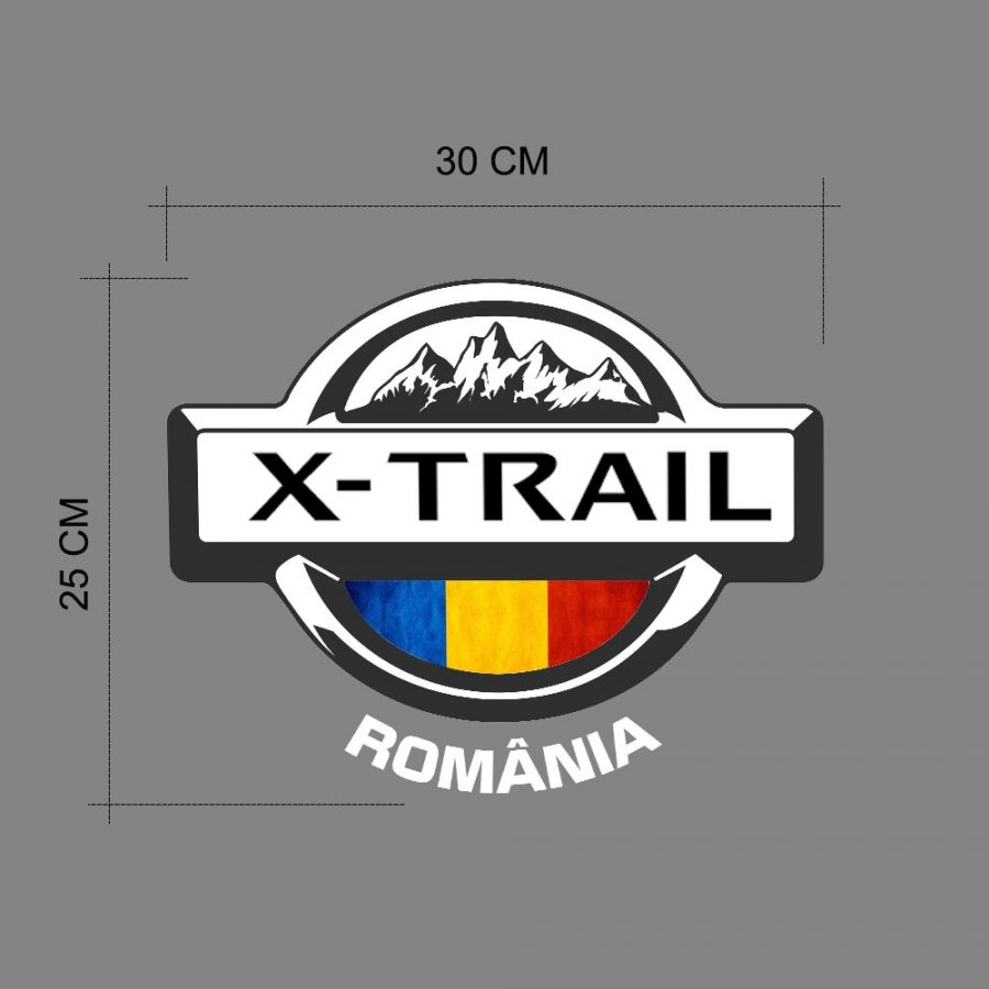 ticker auto Nissan X-Trail Romania 30 x 25 cm.