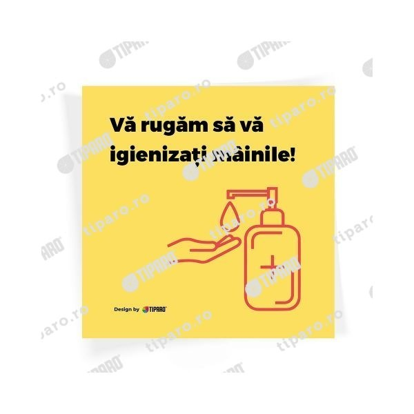 Stickere preventie Igienizare maini 3