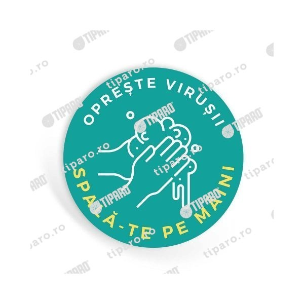 Sticker preventie Toaleta spalare maini 1