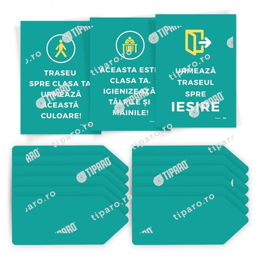 Sticker preventie Set traseu clasa 1