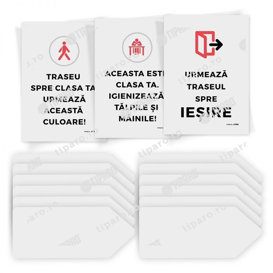 Sticker preventie Set traseu clasa 2