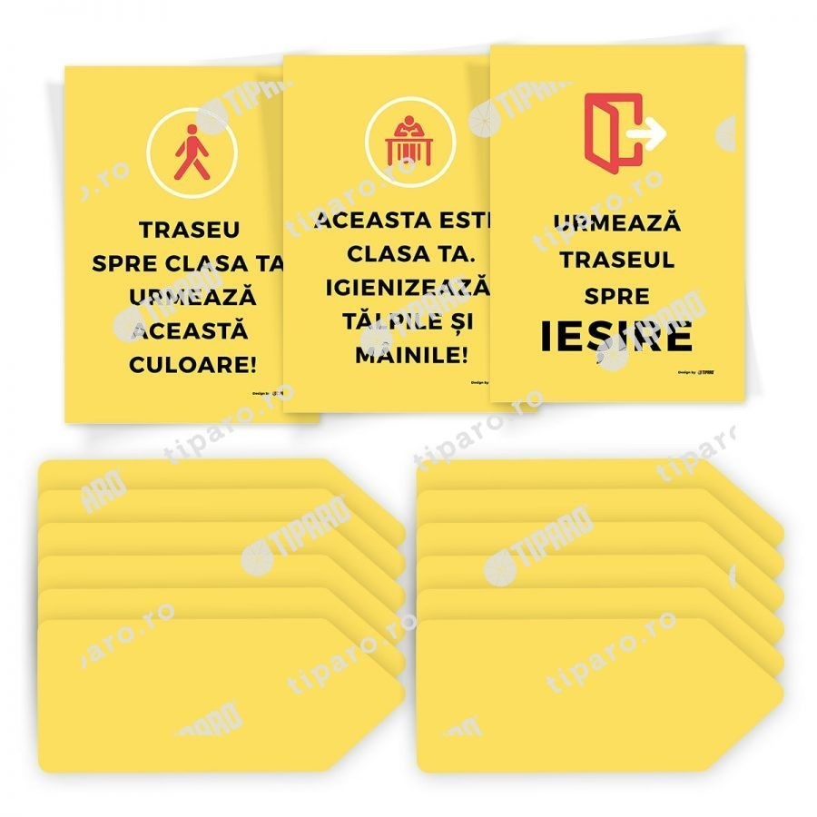 Sticker preventie Set traseu clasa 3