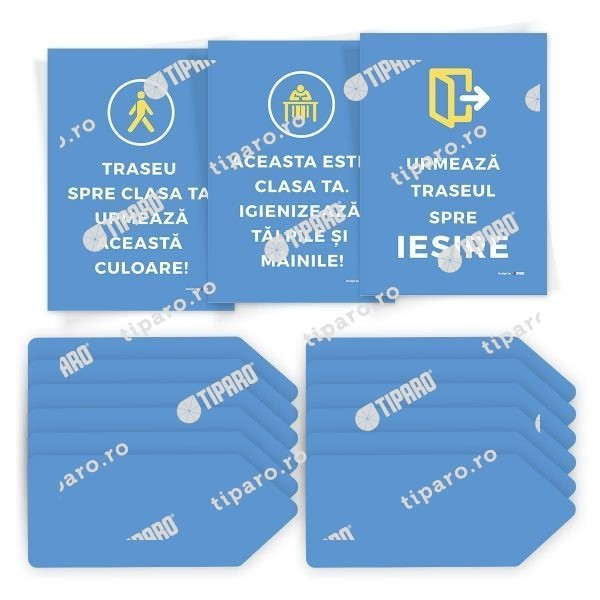 Sticker preventie Set traseu clasa 4