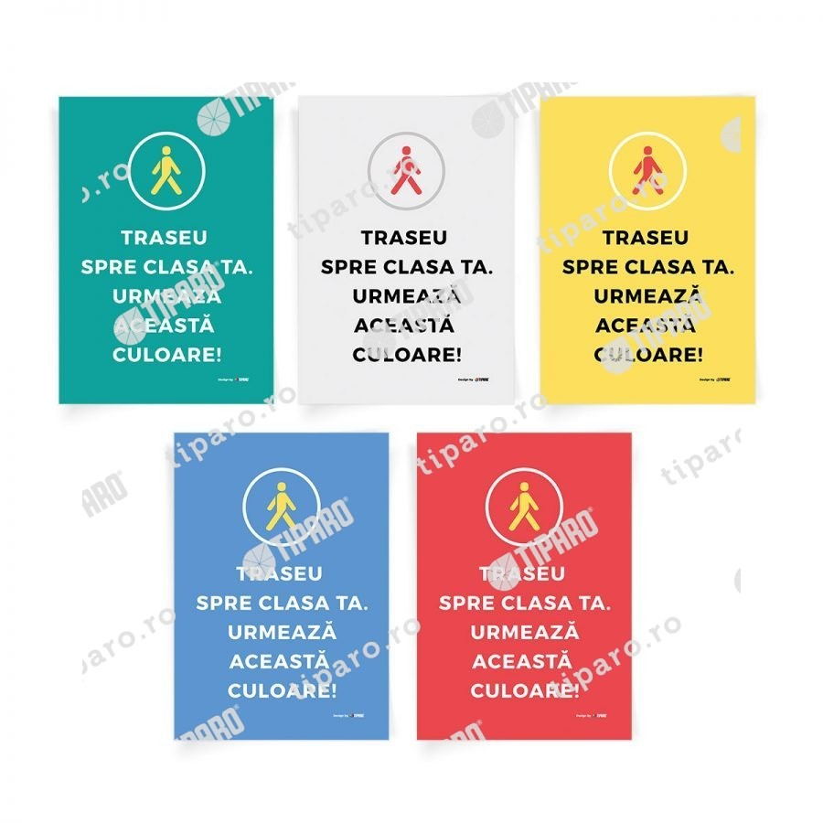 Sticker preventie Set traseu clasa 6