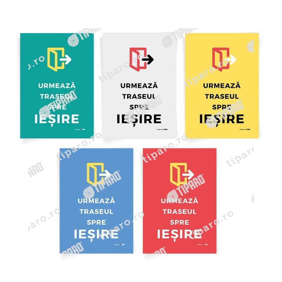 Sticker preventie Set traseu clasa 8