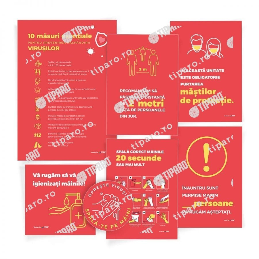 Stickere de preventie Set complet preventie XL 5