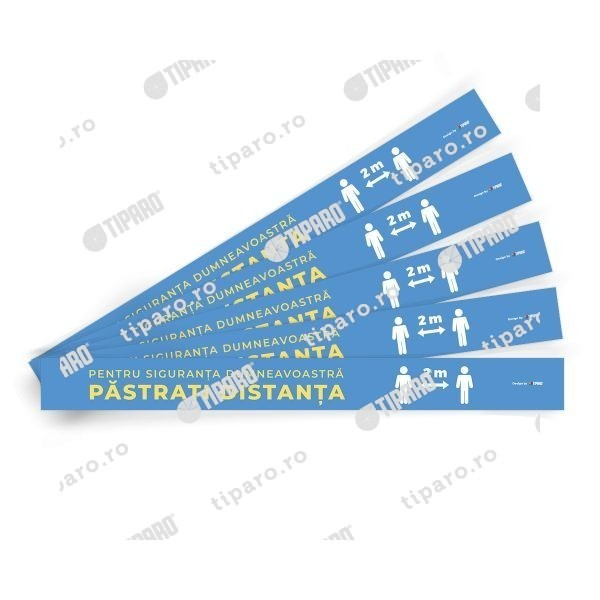 Stickere preventie Benzi distantare podea 5 bucati 5a