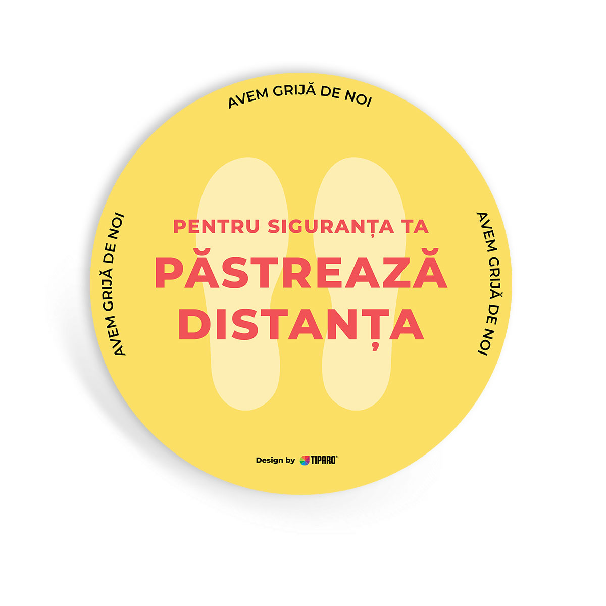 Stickere preventie Cerc distantare podea 3