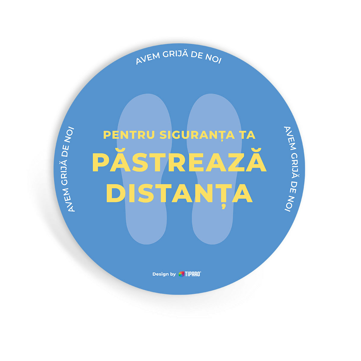 Stickere preventie Cerc distantare podea 1