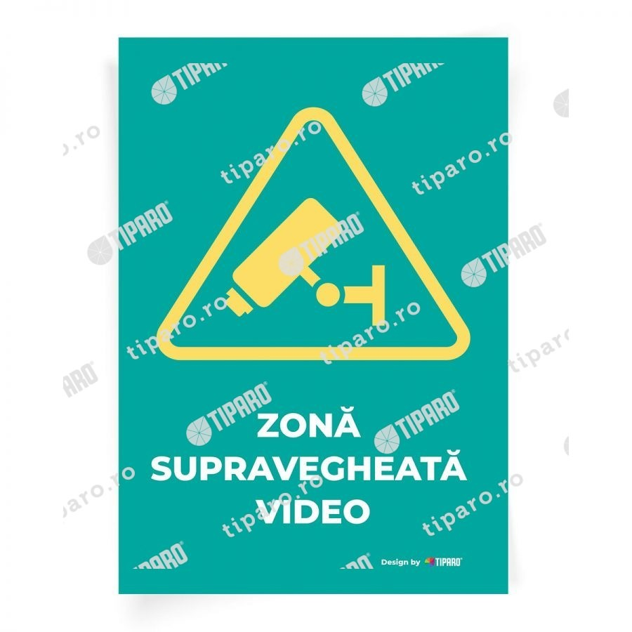 Stickere preventie Zona supravegheata video 1