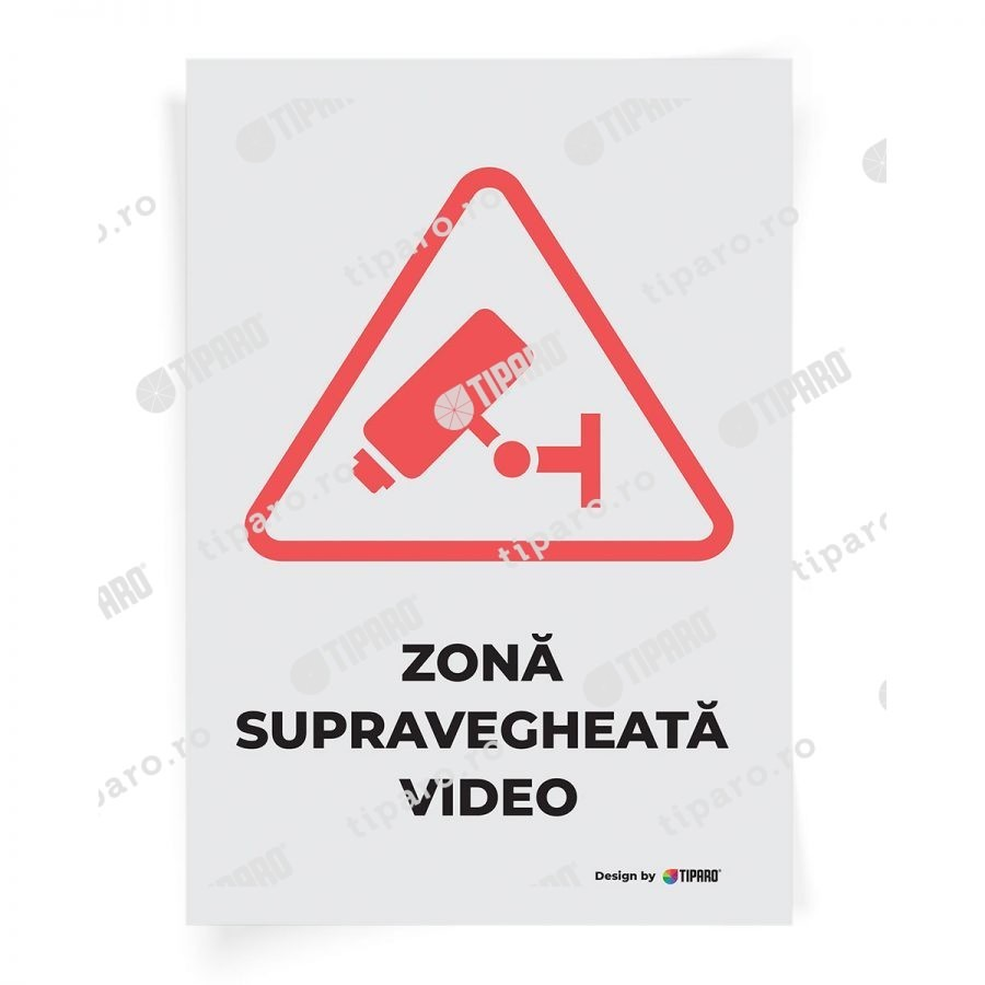 Stickere preventie Zona supravegheata video 2