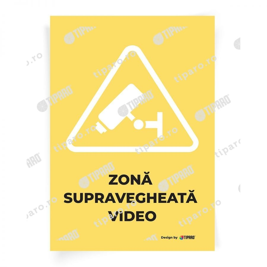 Stickere preventie Zona supravegheata video 3