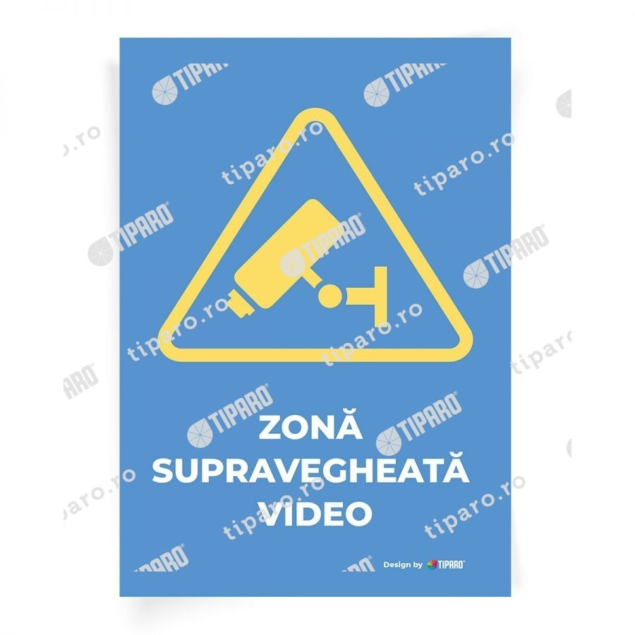 Stickere preventie Zona supravegheata video 4