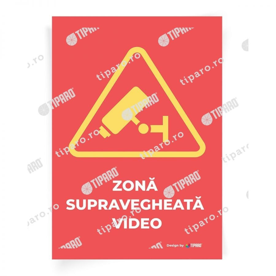 Stickere preventie Zona supravegheata video 5