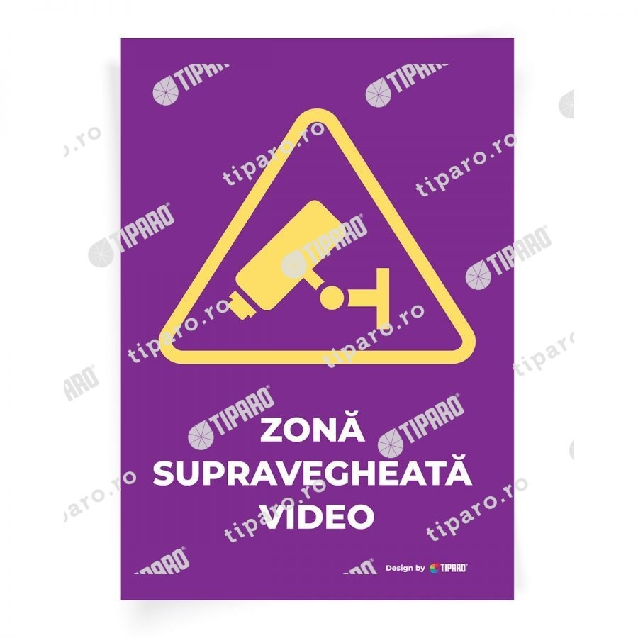 Stickere preventie Zona supravegheata video 7