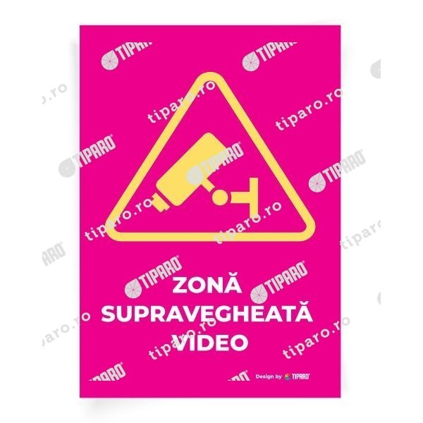 Stickere preventie Zona supravegheata video 9