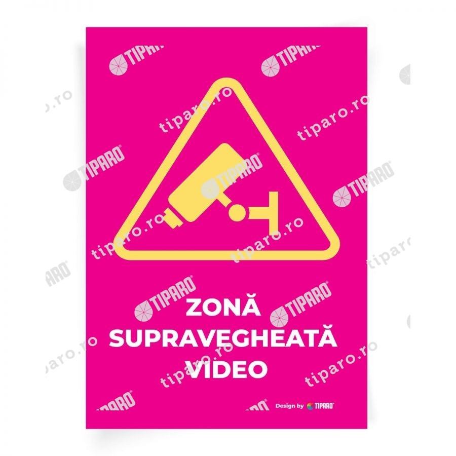 Stickere preventie Zona supravegheata video 8