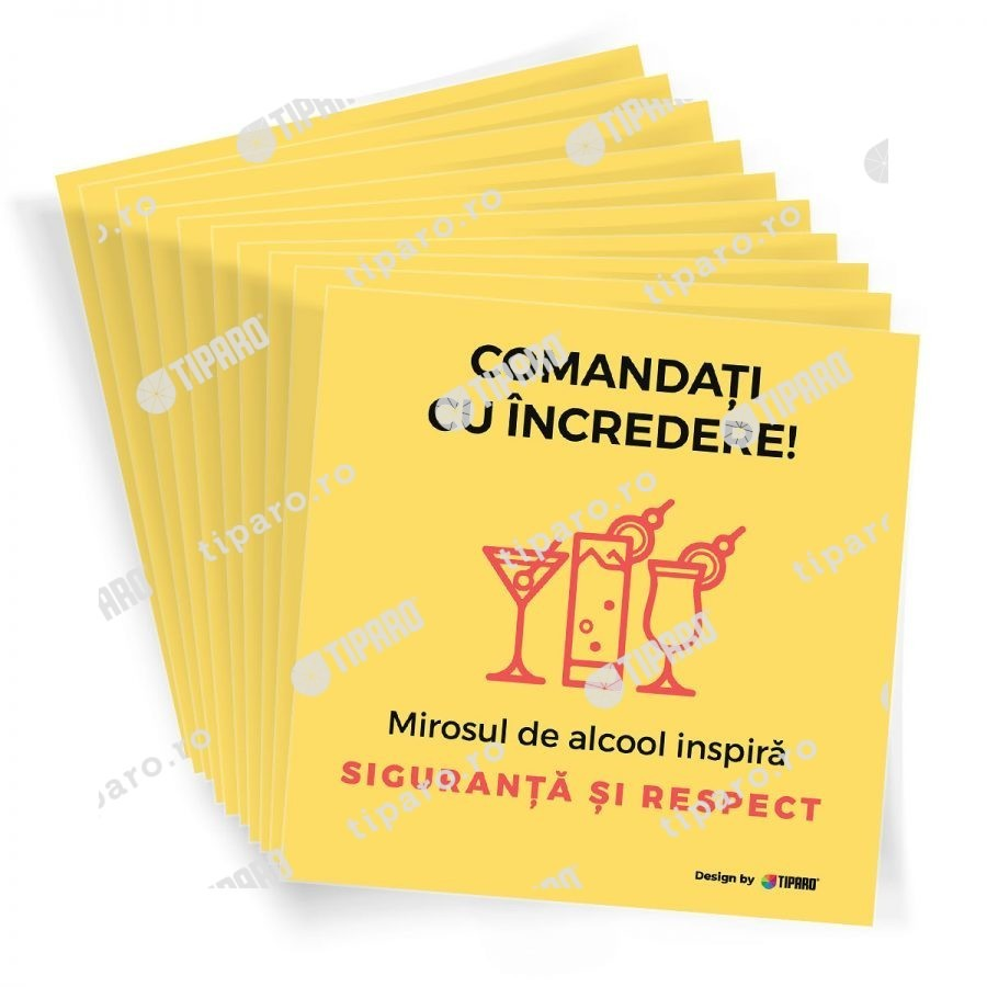 Stickere preventie horeca cocktail 10 bucati 5