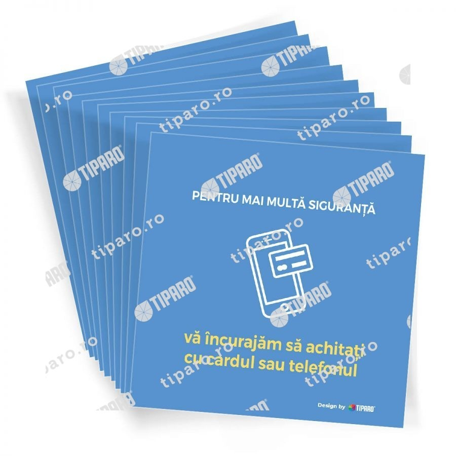 Stickere preventie horeca plata card 10 bucati 4